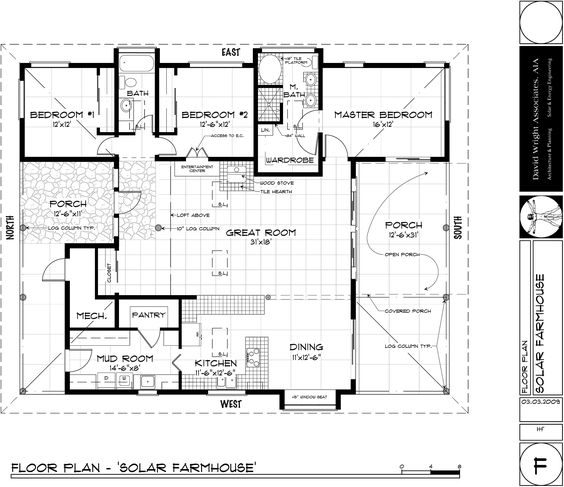 Natural health blog mother earth news healthy living for Passive solar house floor plans