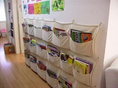 Bolsillo de tela para libros
