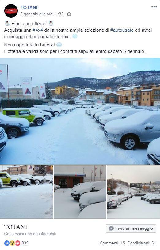 Post Con Offerta In Occasione Di Nevicata Auto Usate 4x4 E
