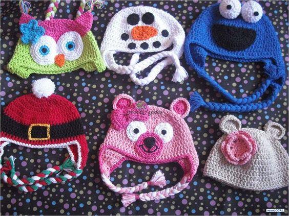 Fotos de Gorros Tejidos En Crochet Forma De Animales Nace Tejidos ...