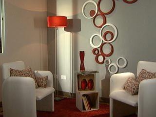 Manualidades y artesan as idea para decorar una pared for Figuras para decorar paredes