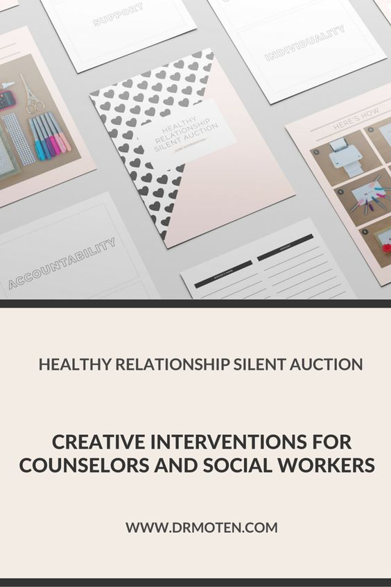The Healthy Relationship Silent Auction is the perfect intervention to help tweens and/or teens learn attributes of a healthy relationship. You can find the instructions and FREE printables at drshalandamoten.com.   Plus receive even more interventions in your inbox with step-by-step instructions to teach youth about healthy versus unhealthy relationships.
