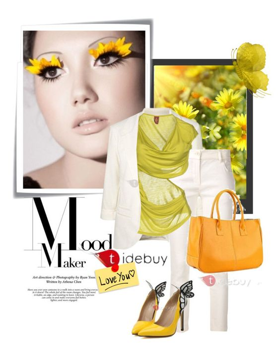 Idebuy by lailah37 on Polyvore featuring moda, Dondup, Ann Demeulemeester and Post-It