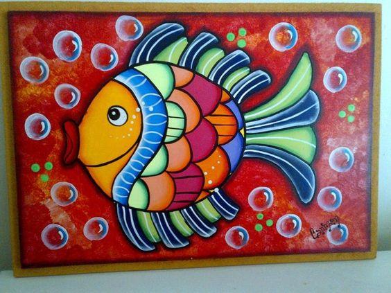 Pintura de peces moderna buscar con google peces for Cuadros con peces
