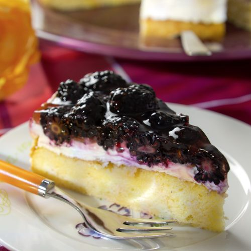 Brombeer-Mascarpone-Torte