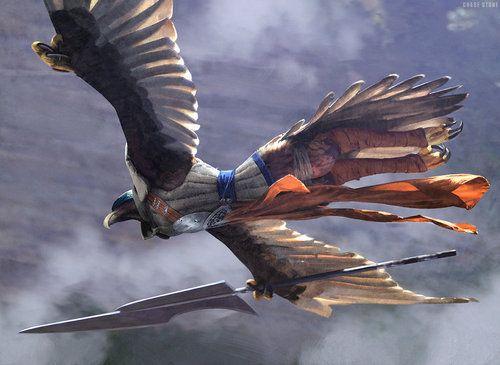 MTG Khans of Tarkir Sage-Eye Harrier Art