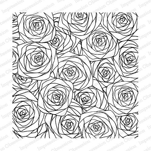 Impression Obsession Cover a Card Sketched Roses 13.95€