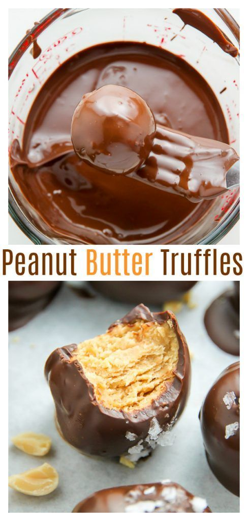Salted Chocolate Peanut Butter Truffles