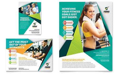 Fitness Trainer Flyer \ Ad Template by @StockLayouts Sports - Fitness Brochure Template