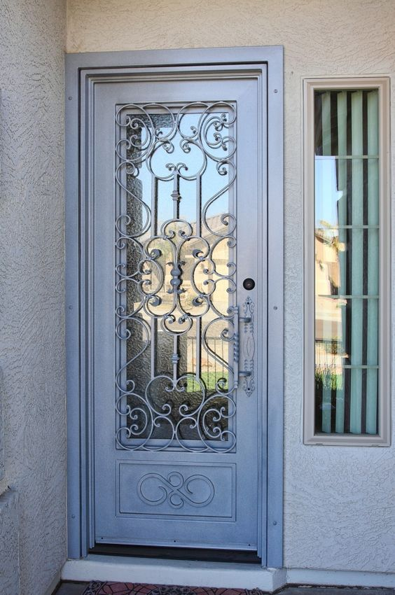 Mediterranean Iron Entry Doors #Firstimpression