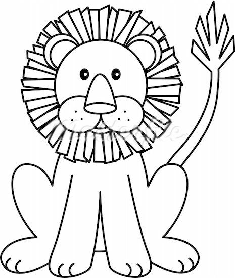 A Picture Of A Lion Face Page Clip Art Coloring Pages