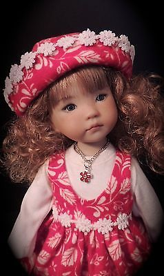 "Autumn Jumper, Shirt, Hat, Necklace - fits 13"" Little Darling by Dianna Effner"