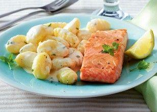 Das Rezept für 20-Minuten-Zitronen-Gnocchi mit Lachs und weitere kostenlose Rezepte auf LECKER.de
