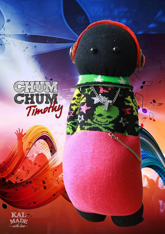 Sock Doll CHUM CHUM -- Timothy