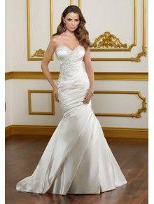 Lustrous Satin Mermaid Sweetheart Wedding Dress ML1822