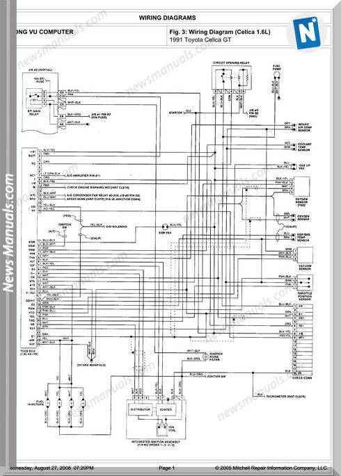 [SCHEMATICS_4ER]  Toyota Celica Gt 1991 Engine 4A-Fe 1.6L Repair Manual | Repair manuals, Toyota  celica, Toyota | Toyota Celica Engine Diagram |  | Pinterest