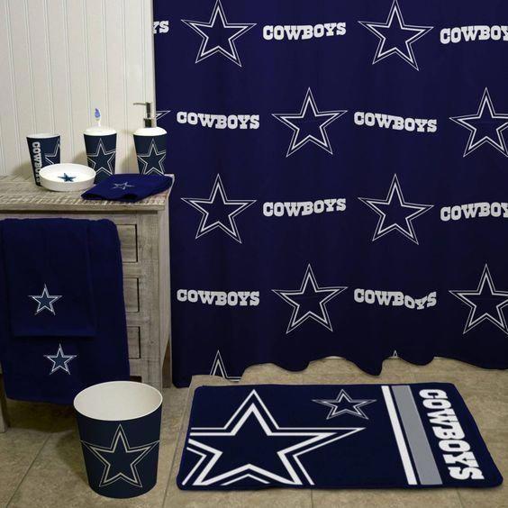 Basement Man Cave Ideas Dallas Cowboys Decor Cowboy Bathroom Dallas Cowboys Bedroom