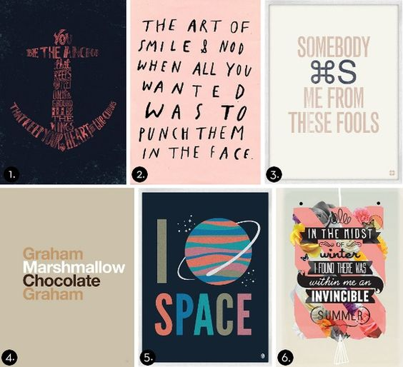 Curbly's Wall Art Shopping Guide: 24 Awesome Typographic Prints