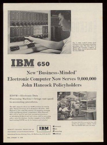 IBM 650 Computer System 2 Ad (1955).