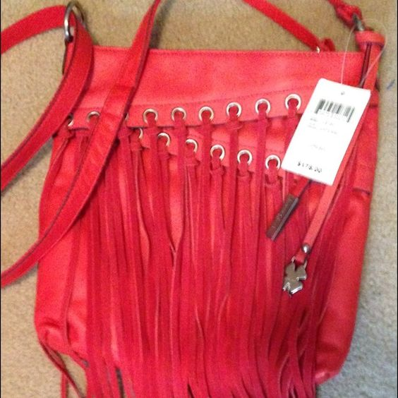 Lucky Brand fringe crossbody NWT New with tag. Adjustable strap. Body of bag 11 by 10 inches. Lucky Brand Bags Crossbody Bags