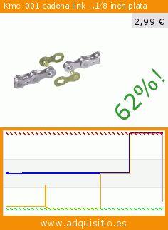 Kmc 001 cadena link -,1/8 inch plata (Deportes). Baja 62%! Precio actual 2,99 €, el precio anterior fue de 7,79 €. http://www.adquisitio.es/kmc/%C2%A0001-cadena-link-18-inch