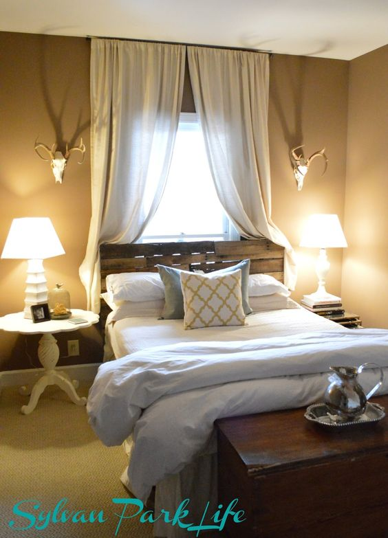 """For Master Bedroom - bed in front of window """"fix"""".... loose the dead animal parts : ("""