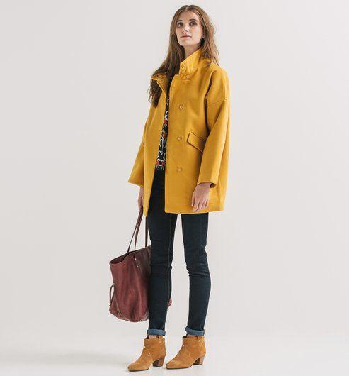 Manteau d Hiver Femme ocre - Promod