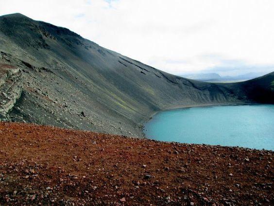 crater lake, on the way to Landmannalaugar, Iceland.