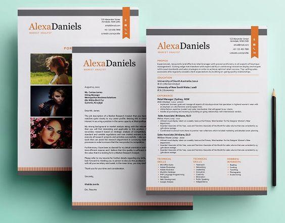 Big icon modern resume template by Inkpower on @creativemarket - modern resume design
