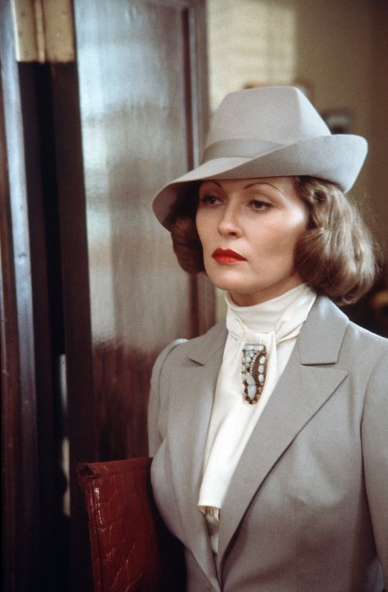 "Evelyn Mulwray in ""Chinatown""- Faye Dunaway."