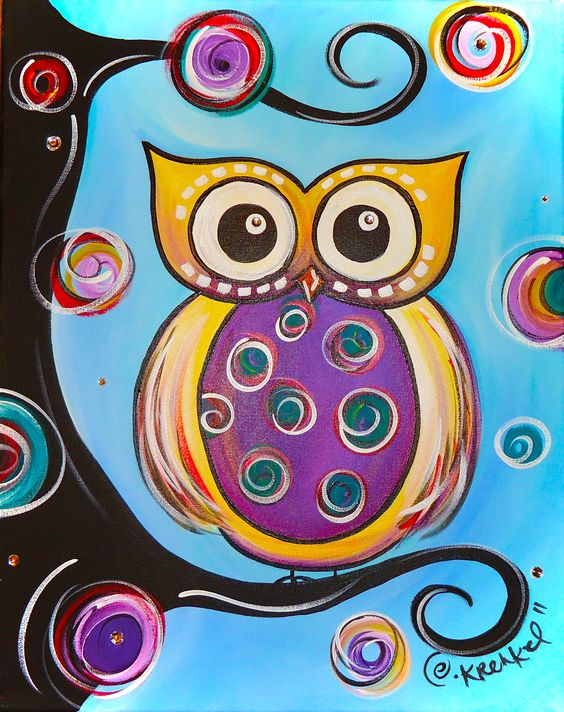 Animals search owl canvas and owl canvas paintings for Night owl paint color