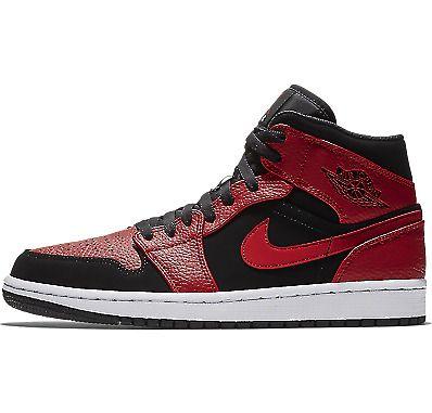 buy popular uk cheap sale size 40 Nike Air Jordan 1 Mid Bred Black Gym Red White Men Shoes 554724 ...