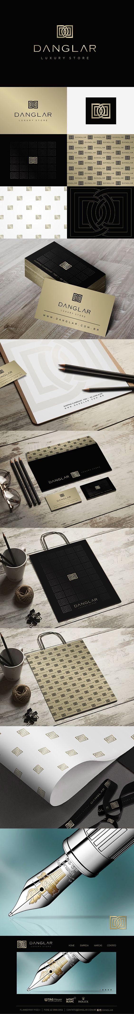 Posicionamento da marca Danglar, uma revenda de Rolex e Mont Branc, Um luxo!!!! Projeto: Branding  Designer: Priscila Áquila