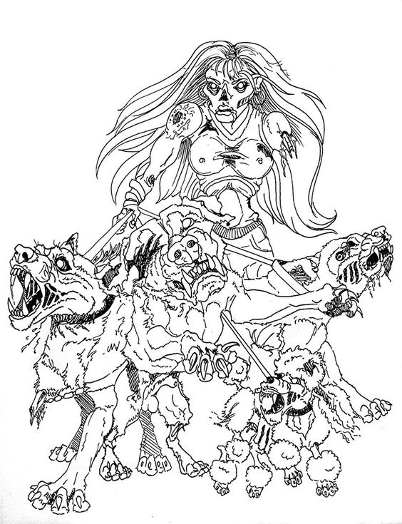 zombie drawings   Zombie Chick Dog Walker... by ~paleWOLF on deviantART