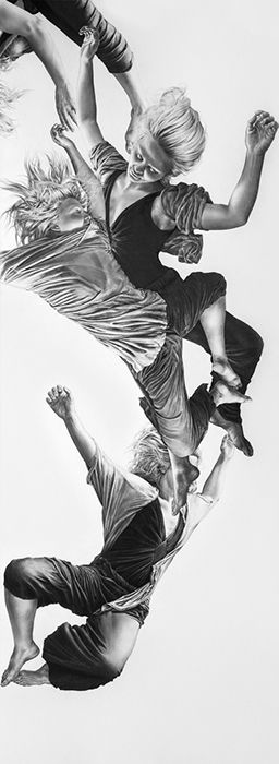 Leah Yerpe | Cygnus | 18 x 50 Inches | Graphite and Ink on Paper | 2012