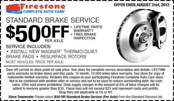Firestone Coupons March 2020 Firestone Free Printable Coupons