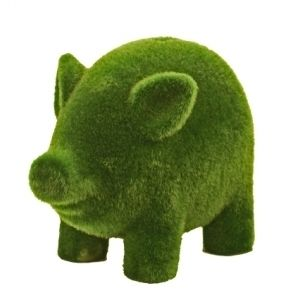 Moss piggy bank. My favourite piggy bank: http://www.helpmetosave.com/2012/02/piggy-bank/
