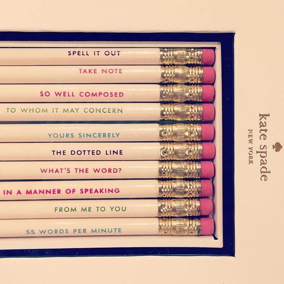 Kate Spade pencils - for when I want to be stylish even ...