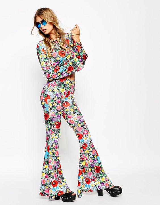 Jaded+London+Skinny+Bell+Bottom+Flare+With+All+Over+Crochet+Floral+Lace+Print