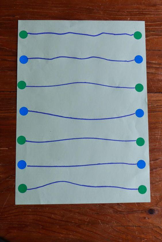 Graphisme le trait horizontal en petite section