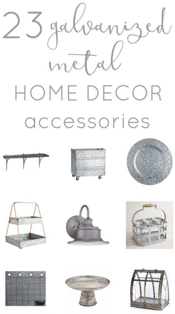 Decor Trend Galvanized Metal Accessories Home Home