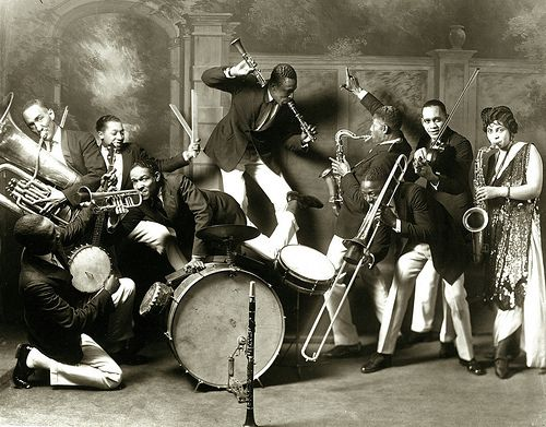 st. louis cotton club band. photo: block brothers studio - circa 1925. (these cats look like they knew how to have a good time!)