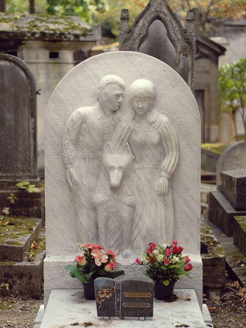 very unusual headstone