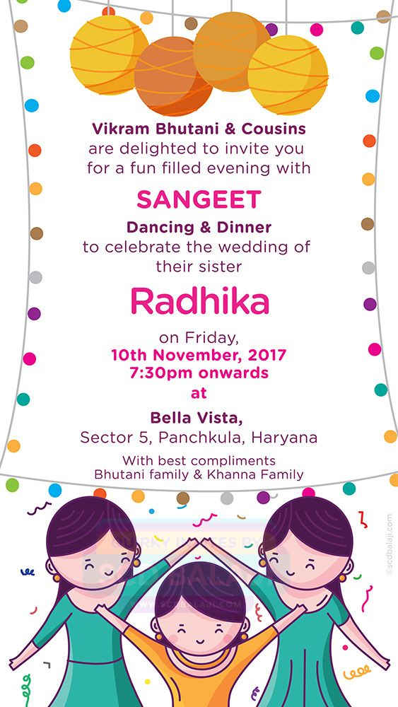 Quirky Indian Wedding Invitations Ladies Sangeet Invitation Cute Couple Collection Indian Wedding Invitations Ladies Sangeet Creative Wedding Invitations