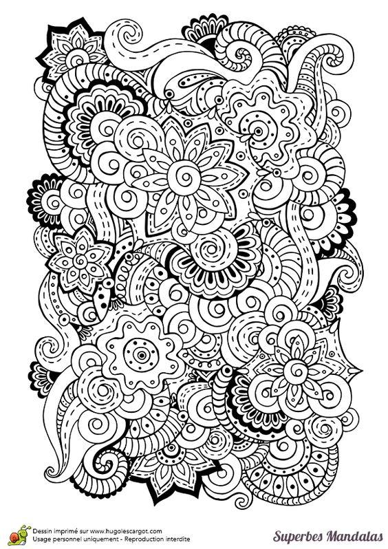 Mandalas Fleurs à Colorier