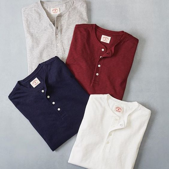 Henleys have a rich sporting history, first serving as warm-up shirts for 19th century English rowers. Our modern-day #RedFleece henleys are made of comfortable cotton and sold at a very comfortable price – shop them via the link in our bio. #VintageAthletics