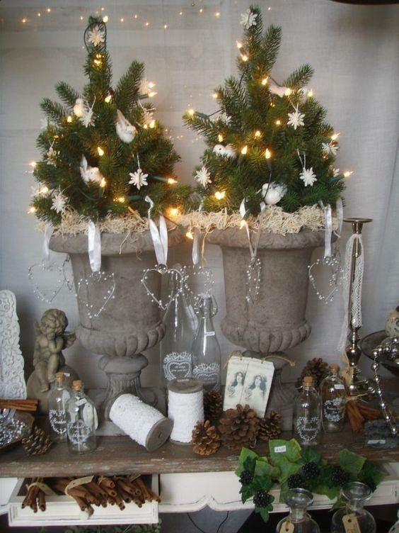 Kerst Decoratie Idee Kerst Rustieke Kerst Kerst Thuis