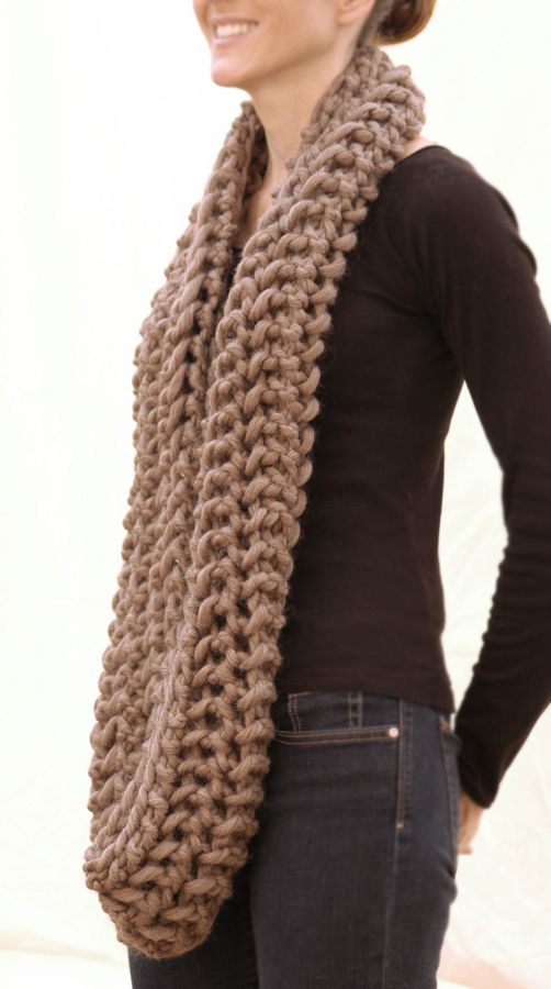 Free Knitting Pattern For Chunky Infinity Scarf : Yarns, Infinity scarfs and Patterns on Pinterest