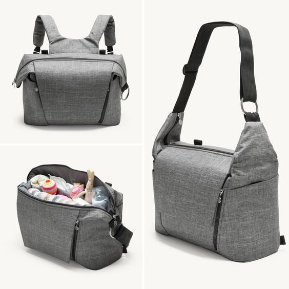 New from Stokke! A changing bag that doubles as a backpack. Perfect for parents who want to have their hands free