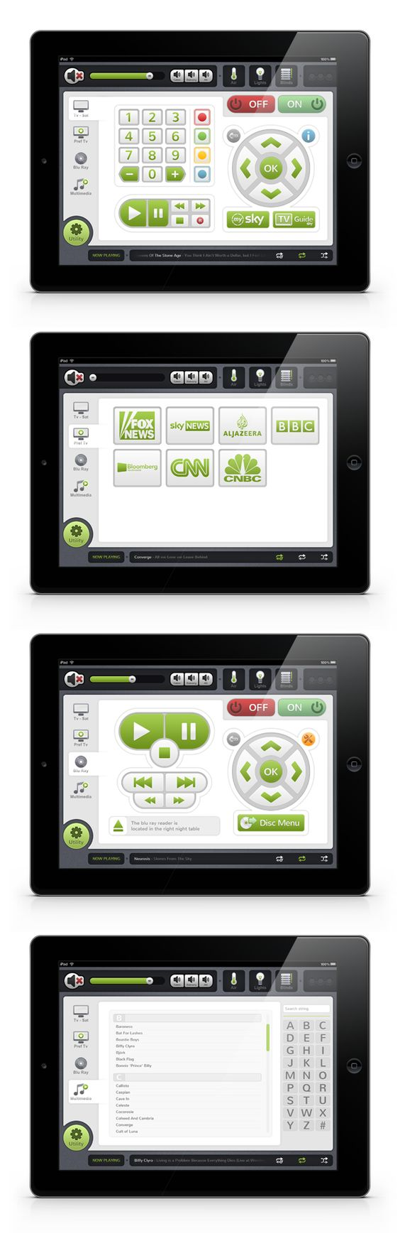 Domotic System Graphic Interface on Behance
